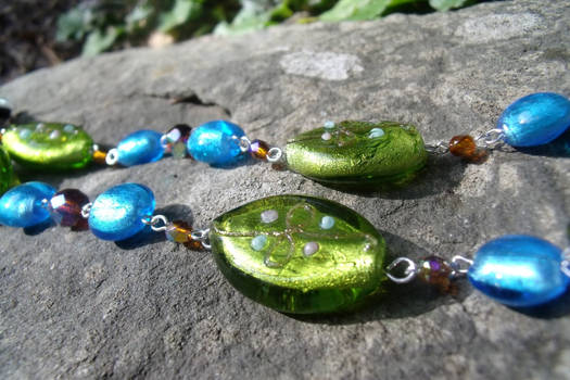 Colorful Earth Necklace Detail