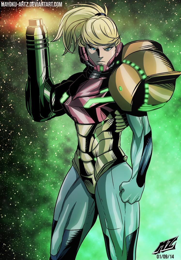 Metroid - Samus Aran by mayoku-artz