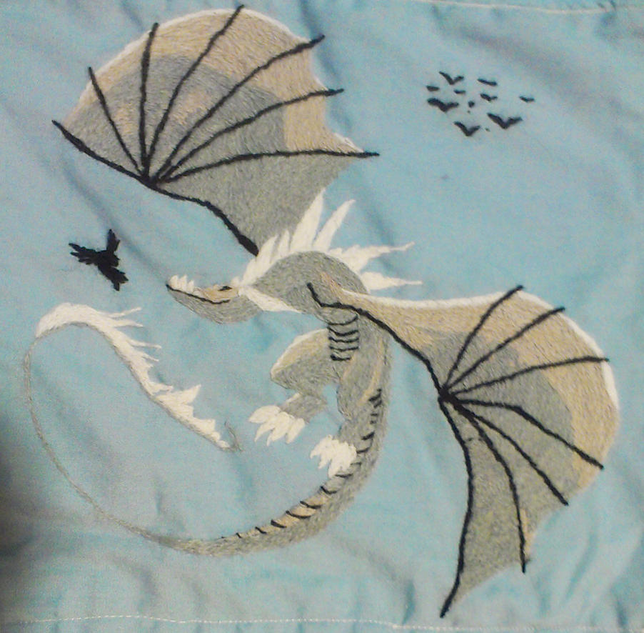 Embroidery Dragon by Kitty-Olenic