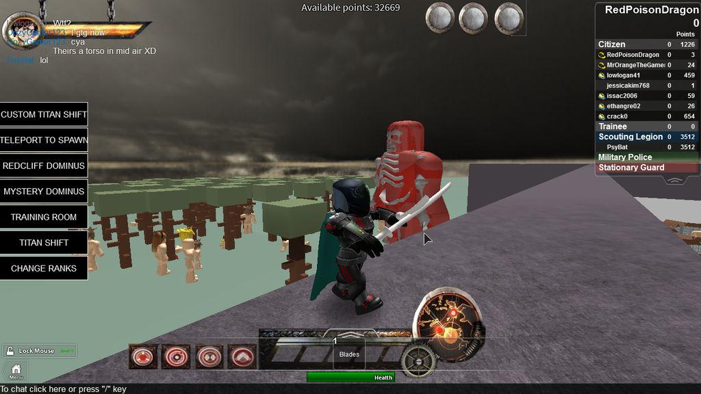 Attack On Titan Roblox Again By Redpoisondragon On Deviantart