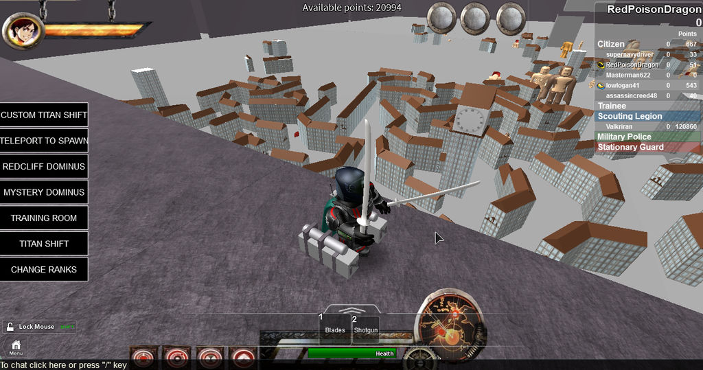 Attack On Titan Roblox 3 By Redpoisondragon On Deviantart