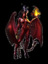Demon Girl render by diablo7707 by Diablo7707