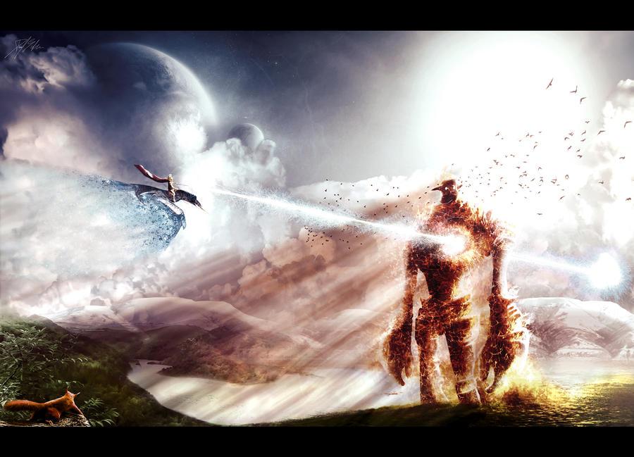 Fire Titan by Daniel-Abreu