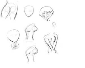 Weird anatomy sketch