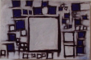 Blue in Squares series by JFuchs