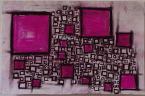 Pink in Squares Series- SOLD by JFuchs