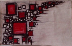 Red in Squares Series by JFuchs