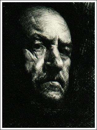 Portrait of an old man by RAVANSKI