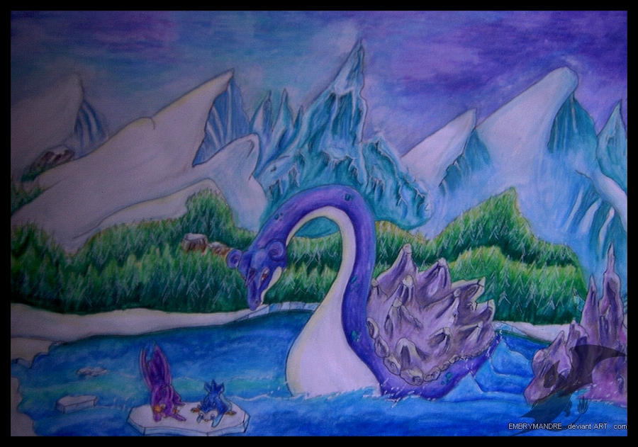 Lapras - Sea's dragon by Embrymandre