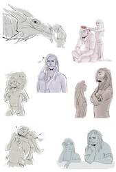 Odahviing sketch compilation by TwilightxsMonster