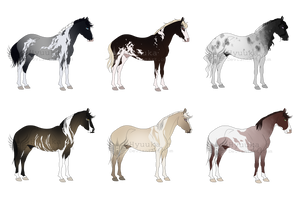 Stallion Adoptable Batch [CLOSED] by Muertia-Adopts