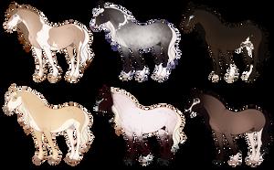 Draft Stallion Adopts [CLOSED] by Muertia-Adopts