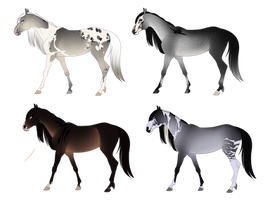 Horse Adopts! Batch Two (CLOSED) by Muertia-Adopts