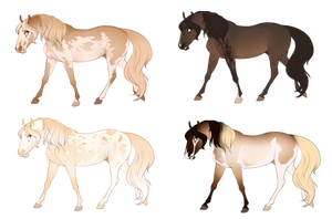 Horse Adopts! (CLOSED) by Muertia-Adopts