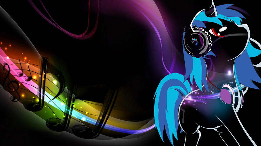 Vinyl Scratch (Dj PoN-3) Wallpaper by AbsentParachute