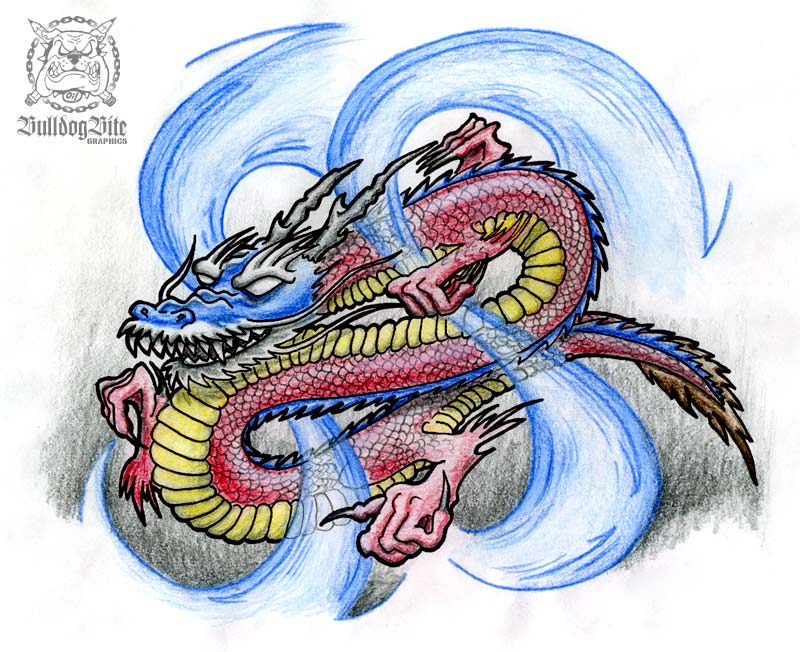 Top japanese dragon tattoo flash images for pinterest tattoos for Japanese tattoo flash