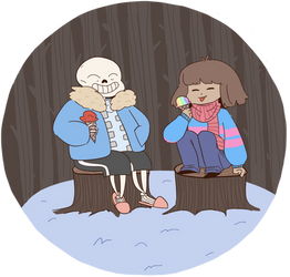 Nicecream with Sans by BurningCitiesDown