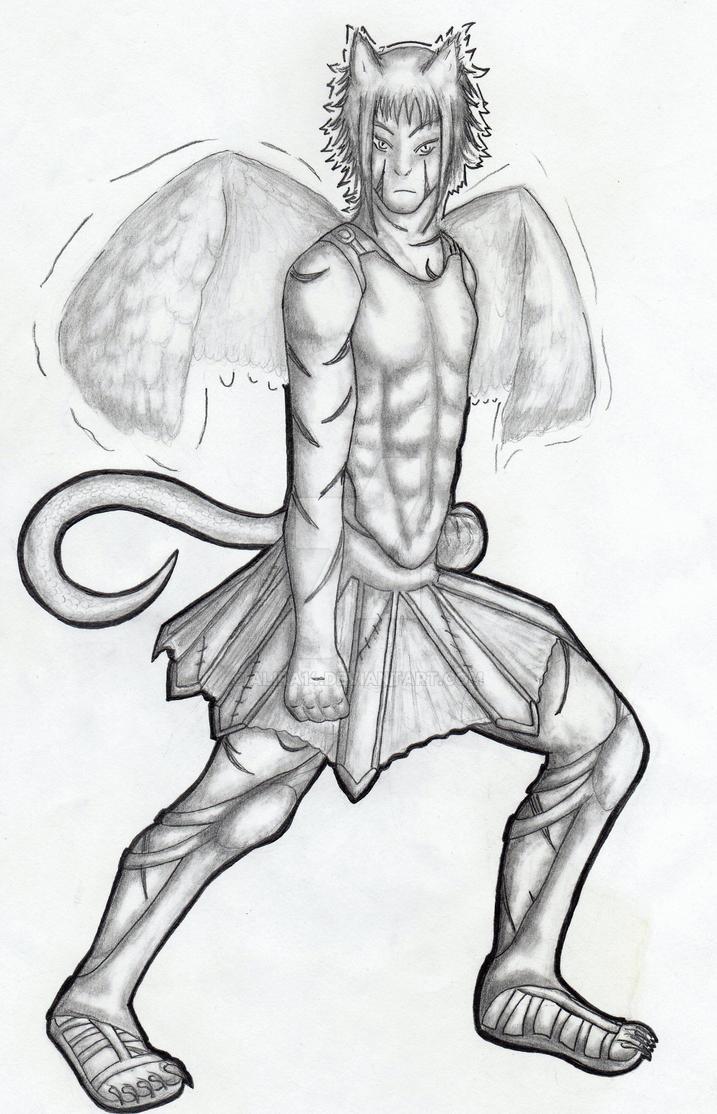 Sphinks (draminion version) - redesign by Alira14