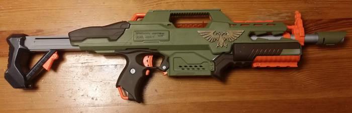 Nerf Imperial Guard Lasgun carbine.