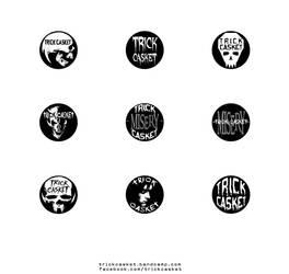 Trick Casket - Promo 3 - Pins by J-ROZEN-COMICS