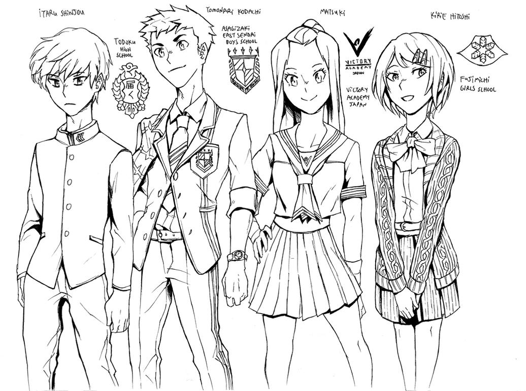 Anata Cast Schools by AaronKTJ