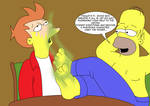 Fry and Homer