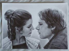 Princess Leia  Han Solo  by Ginchilla194