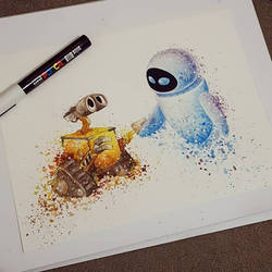 Wall-e and Eve by Ginchilla194