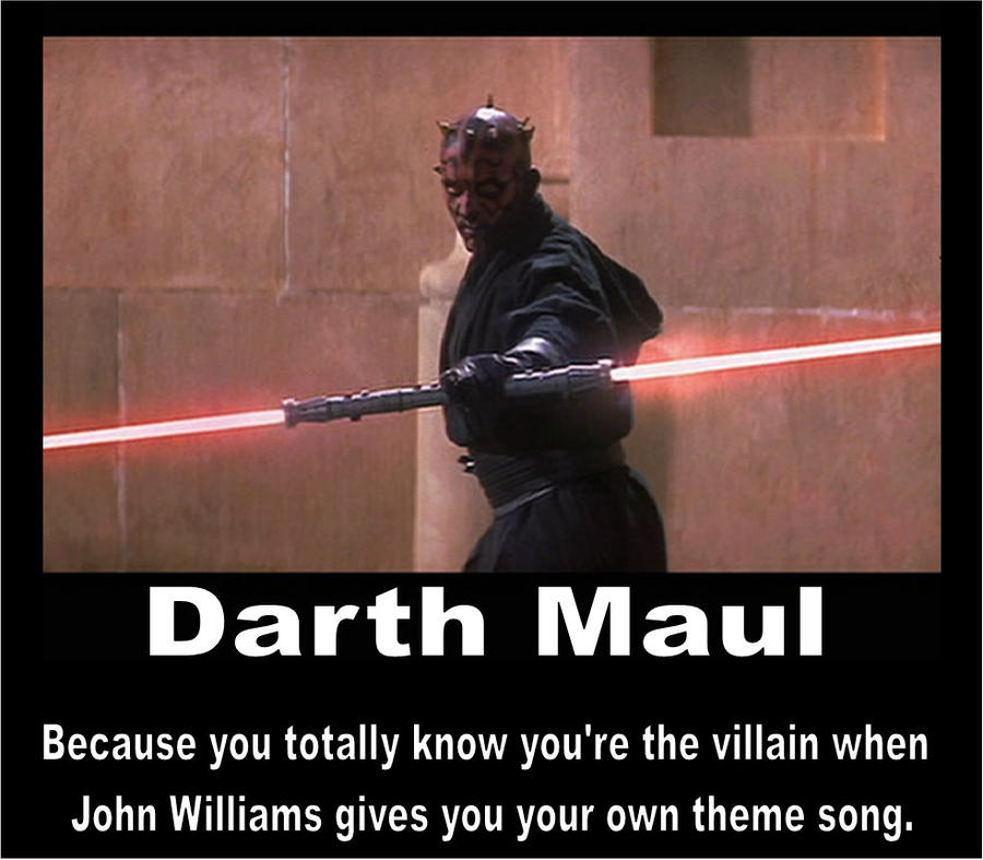 Darth Maul Motivational Poster by Anglaise