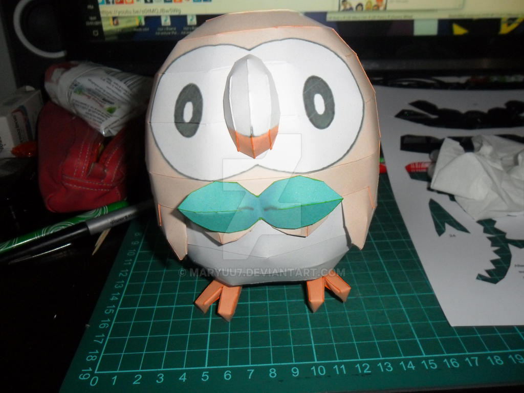 Rowlet papercraft by Maryuu7