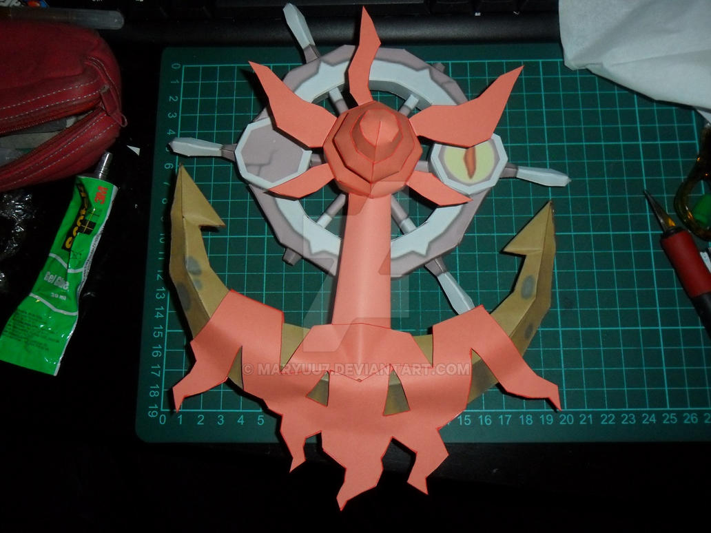 Shiny Dhelmise Papercraft by Maryuu7