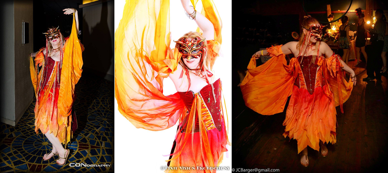 UPDATE: Silk Masquerade Phoenix by TempestFae