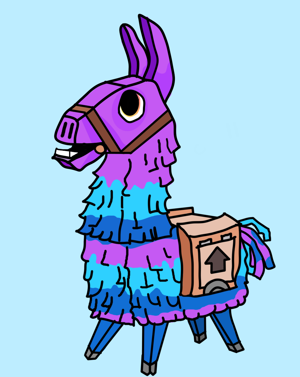 It's just a graphic of Revered Fortnite Llama Drawing