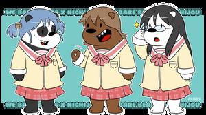 We Bare Bears x Nichijou by Abie05