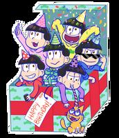 Osomatsu-san: Birthday NEETs by Abie05