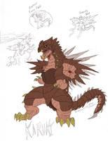 Godzilla CTTM: Karuki by SeanSumagaysay