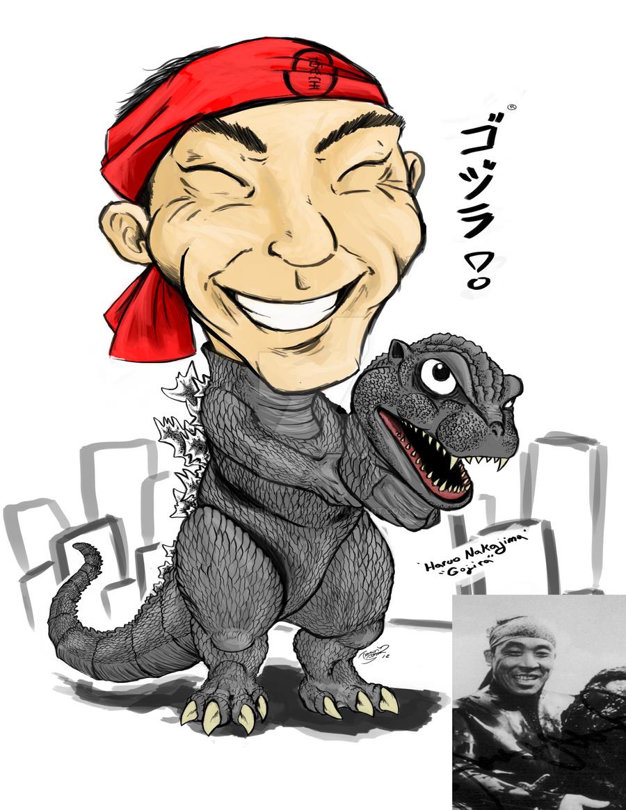 Haruo Nakajima Caricature by SeanSumagaysay