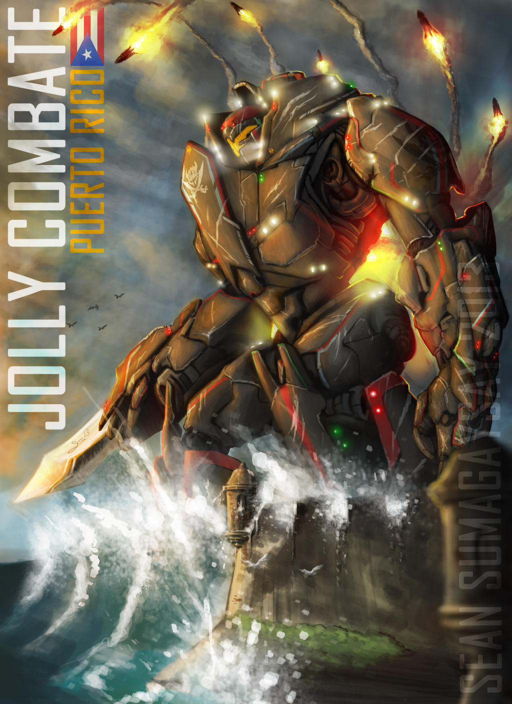 Original Pacific Rim Jaeger: ''JOLLY COMBATE'' by SeanSumagaysay