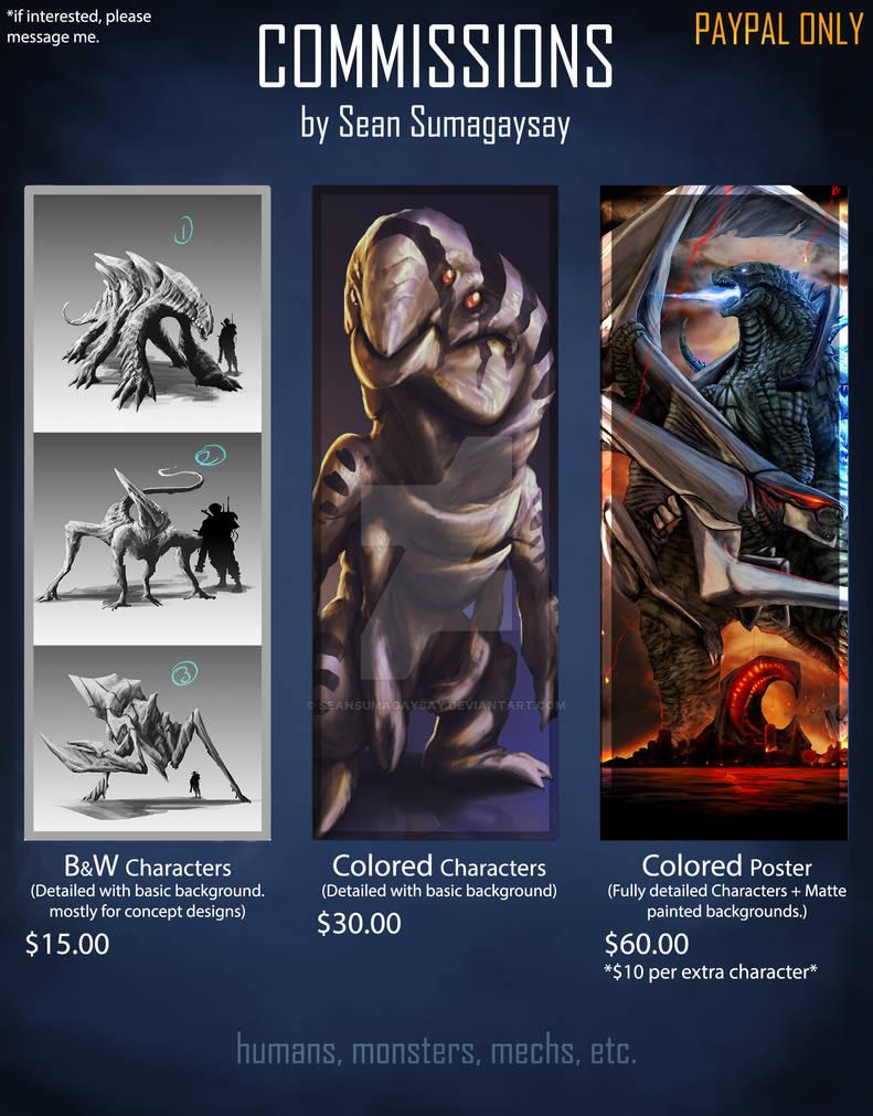 Commission Sheet 2015