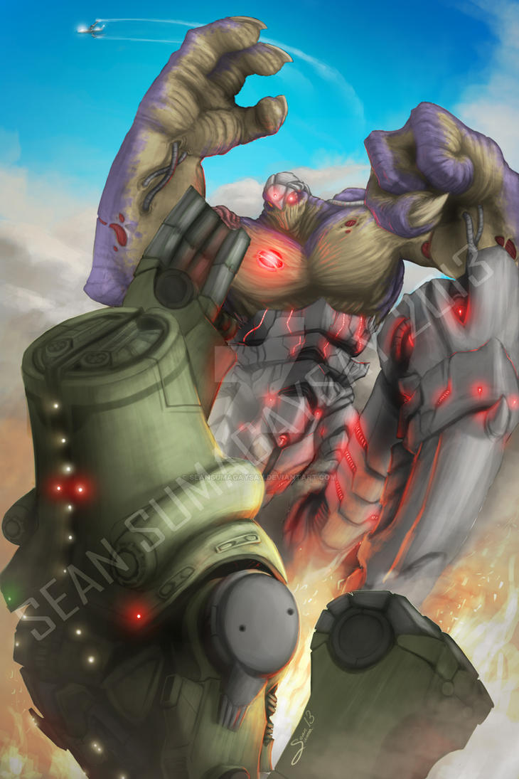 *COMMISSION* Exterminus vs. Cherno Alpha by SeanSumagaysay ... Pacific Rim Cherno Alpha Anime