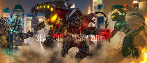 *COMMISSION* Bloody Judgement and Fire Storm by SeanSumagaysay
