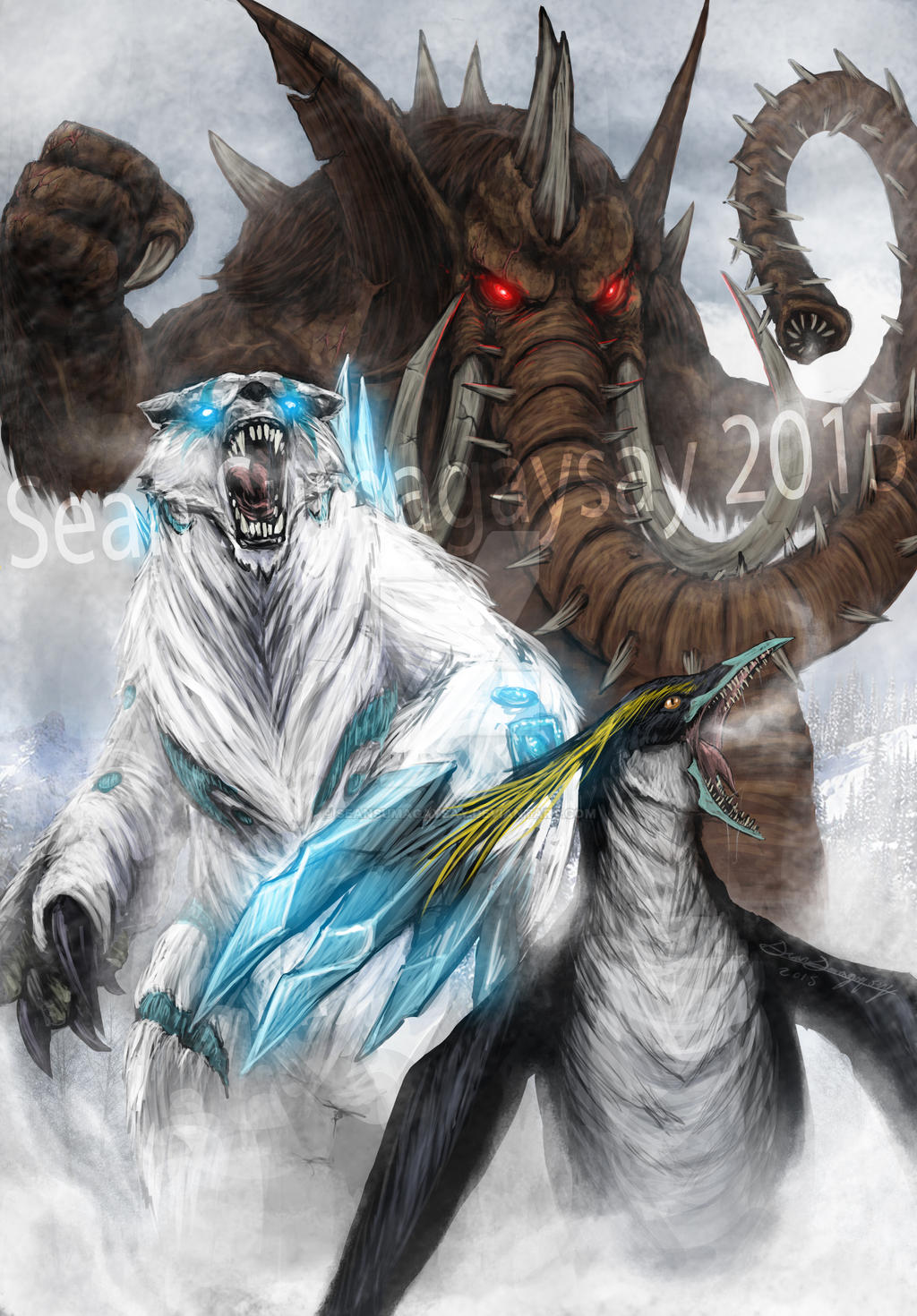 Kaiju Combat Deviantart: *COMMISSION* A New Ice Age By SeanSumagaysay On DeviantArt