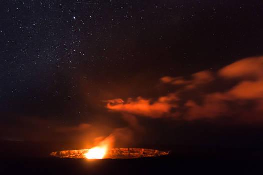 volcano campfire