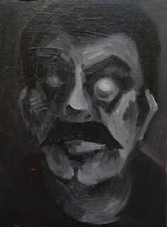 Stalin, 23cmx31cm, oil on canvas by Jacklicheukman