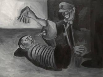 HaHaHa, oil on canvas by Jacklicheukman