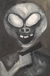 Alien, 50 x30cm, oil on canvas by Jacklicheukman