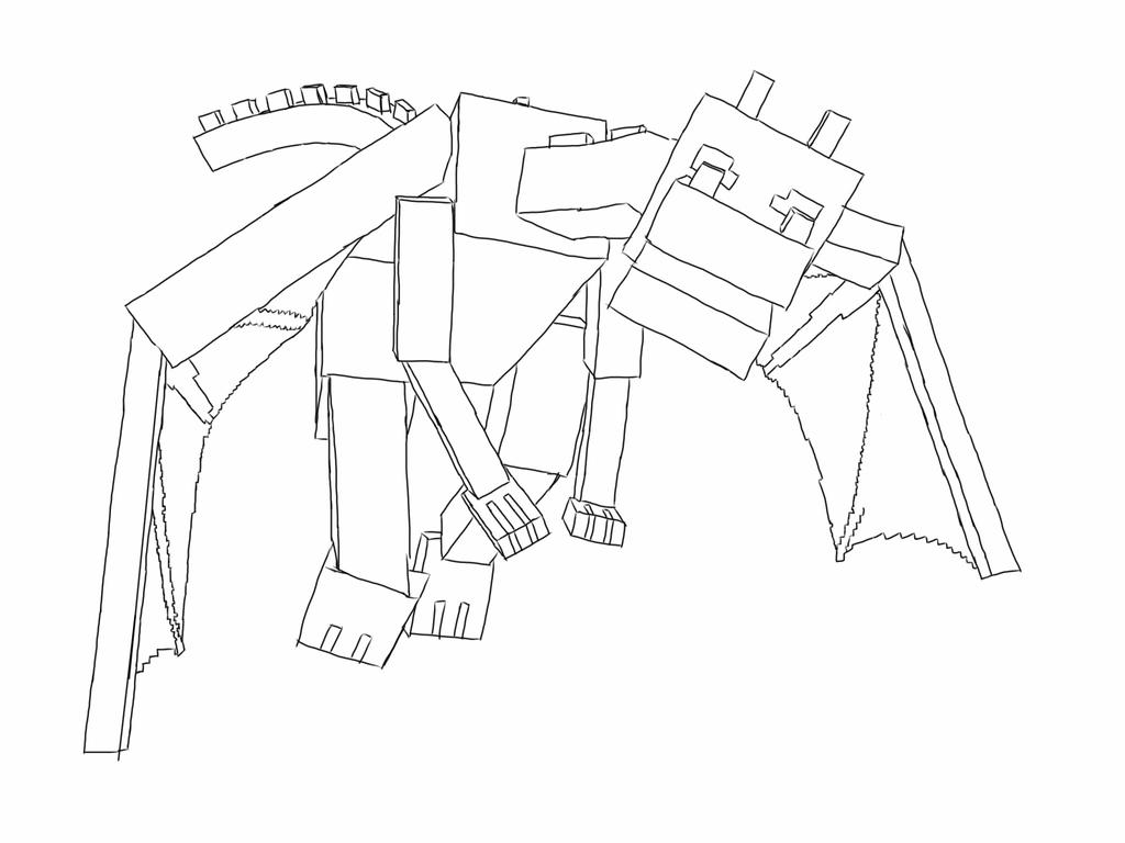 Minecraft Ender Dragon - Free Colouring Pages