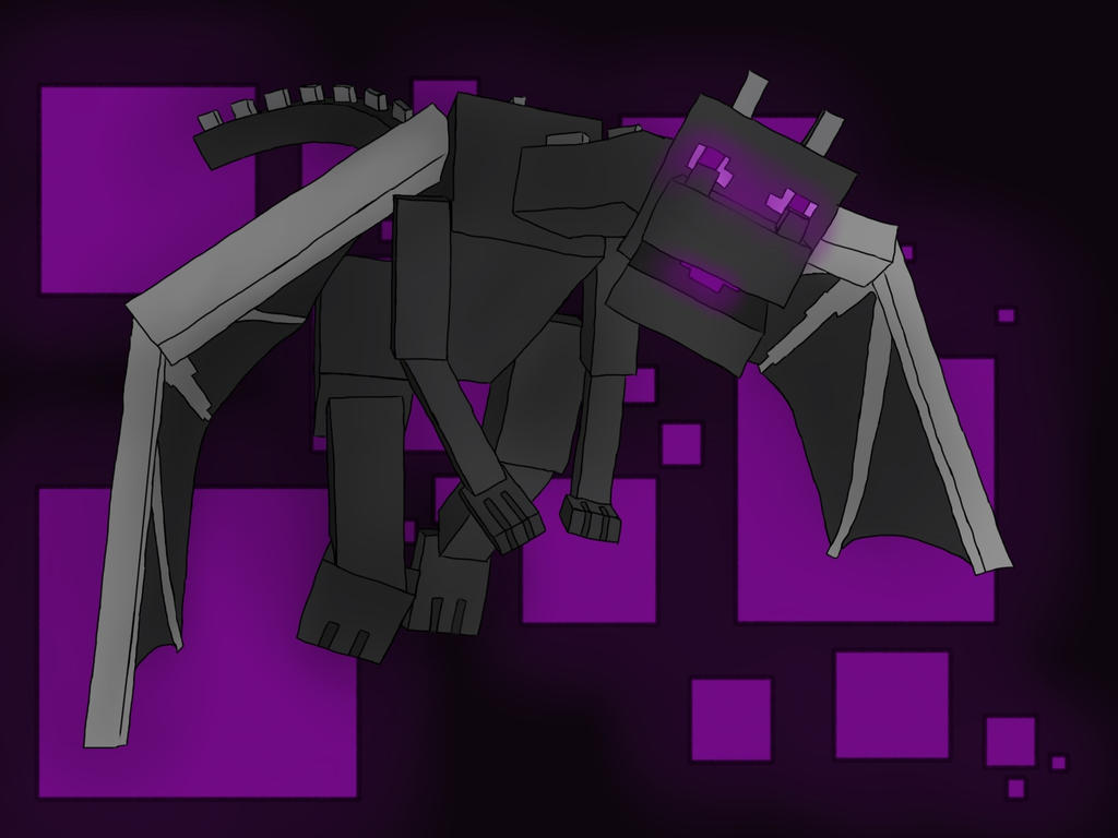 Minecraft Enderdragon By StaffyOlsson