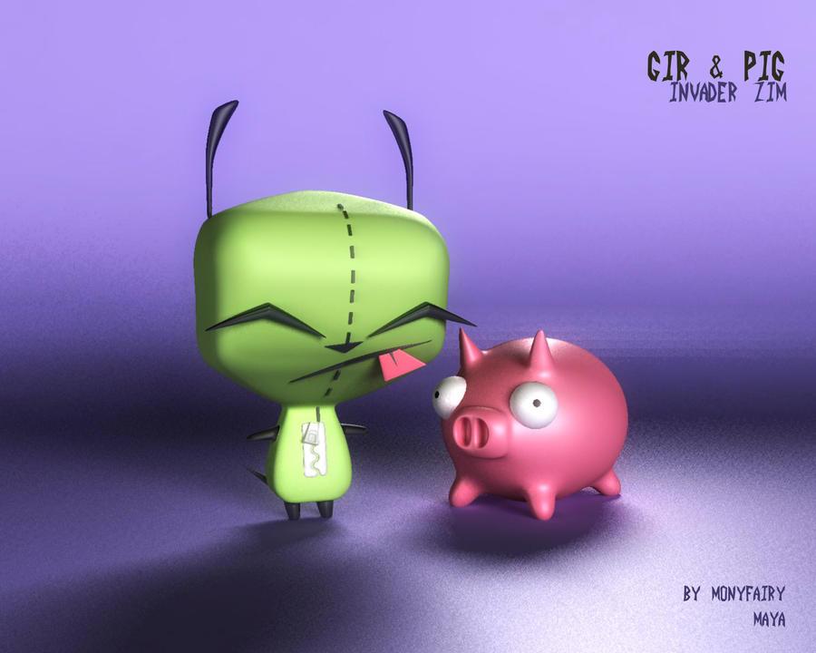 GIR y PIG by Monyfairy