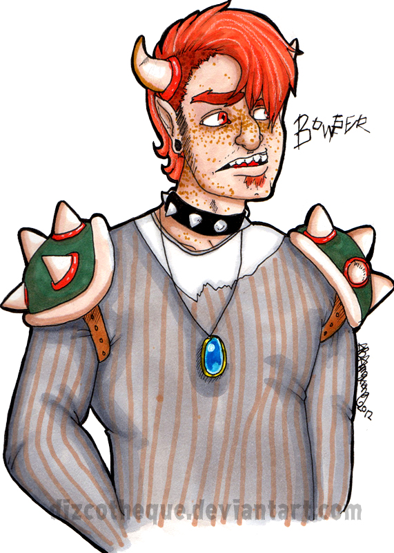 human bowser by dizcotheque on deviantart